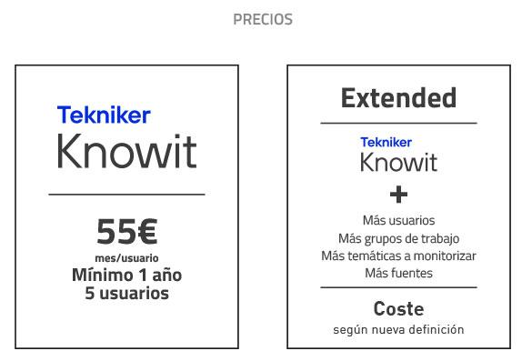 Precios Knowit
